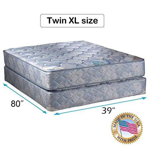 """Chiro Premier Orthopedic (Blue Color) Twin XL Size (39""""x80""""x9"""") Mattress and Box Spring Set - Fully Assembled, Good for your back, Superior Quality, Long Lasting and 2 Sided - By Dream Solutions USA"""