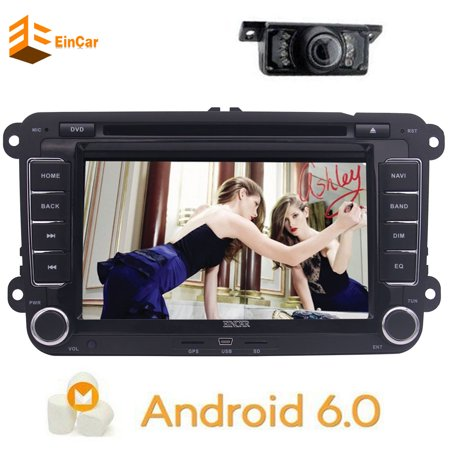 7 inch Android 6.0 Head Unit Double Din Car Stereo headunit for VW Jetta Golf Passat Support GPS Sat Nav Phone Link Car Radio Bluetooth 4G/3G Wifi DVR CAM-IN OBD2 Capacitive Multi-touchscreen Can-bus