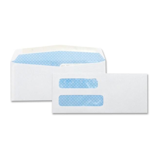 Business Source Double Window Envelopes,No. 8-5/8'',3-5/8''x8-5/8'',500 per Box,White