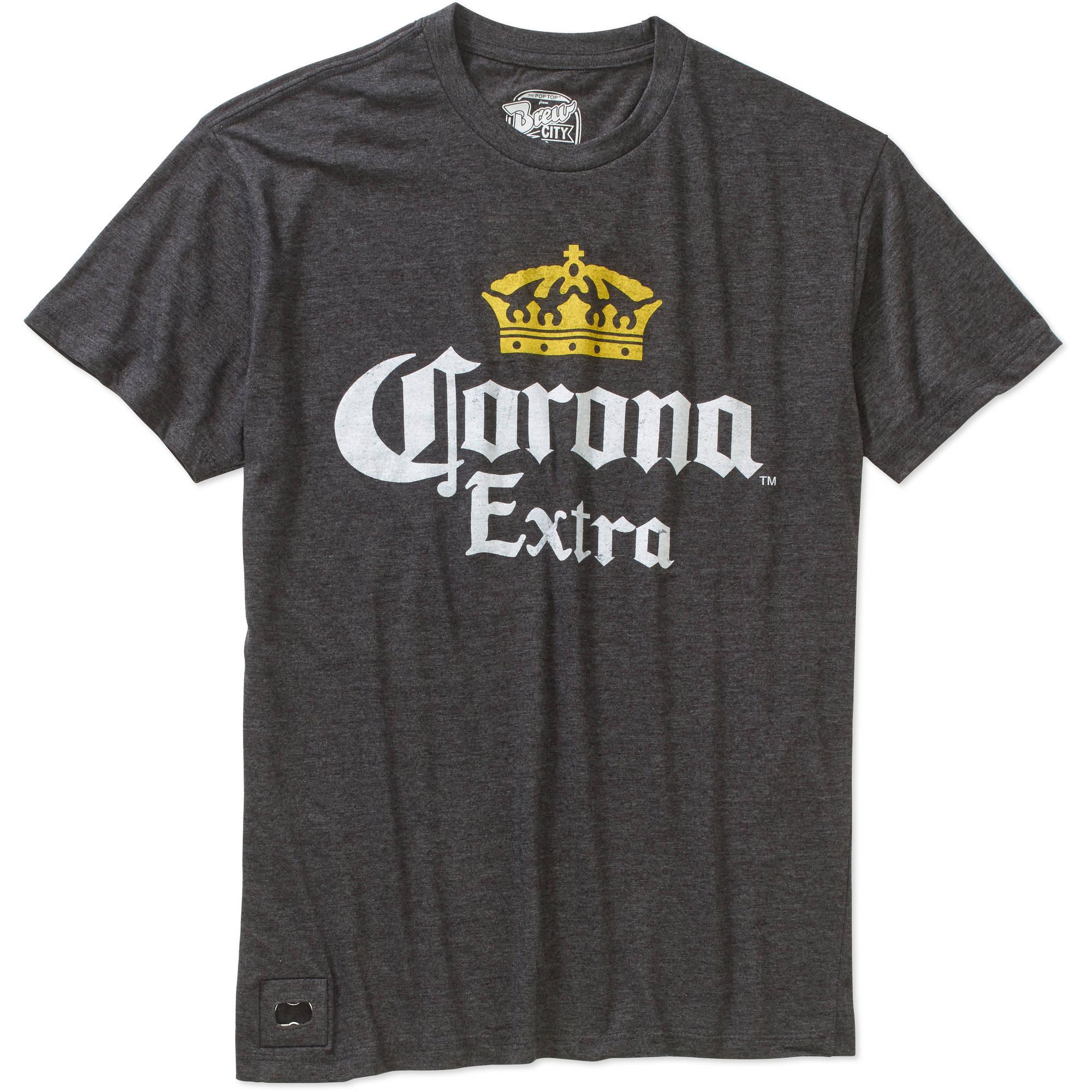 Corona Men's Pop Top Graphic Tee with Bottle Opener