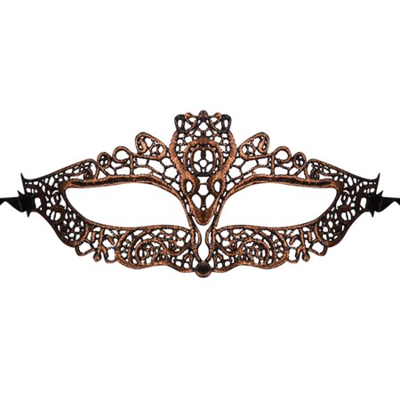 Exquisite Horizontal Lace Mask in Eyebrow as Halloween Masquerade Party Fancy Ball Decor