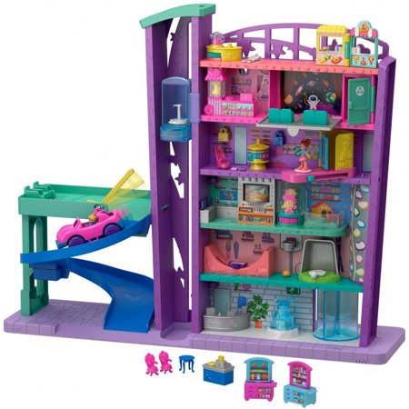 Polly Pocket Pollyville Mega Mall Playset with Themed (Henderson Mall Shops)