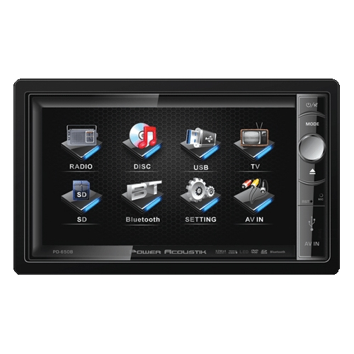 "Power Acoustik PD-650B, 6.5"" Motorized 2-Din Multimedia S..."