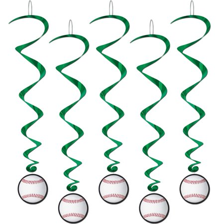 World Parts - Pack of 30 Baseball Cut-Out Dizzy Dangler Hanging World Series Party Decorations 40