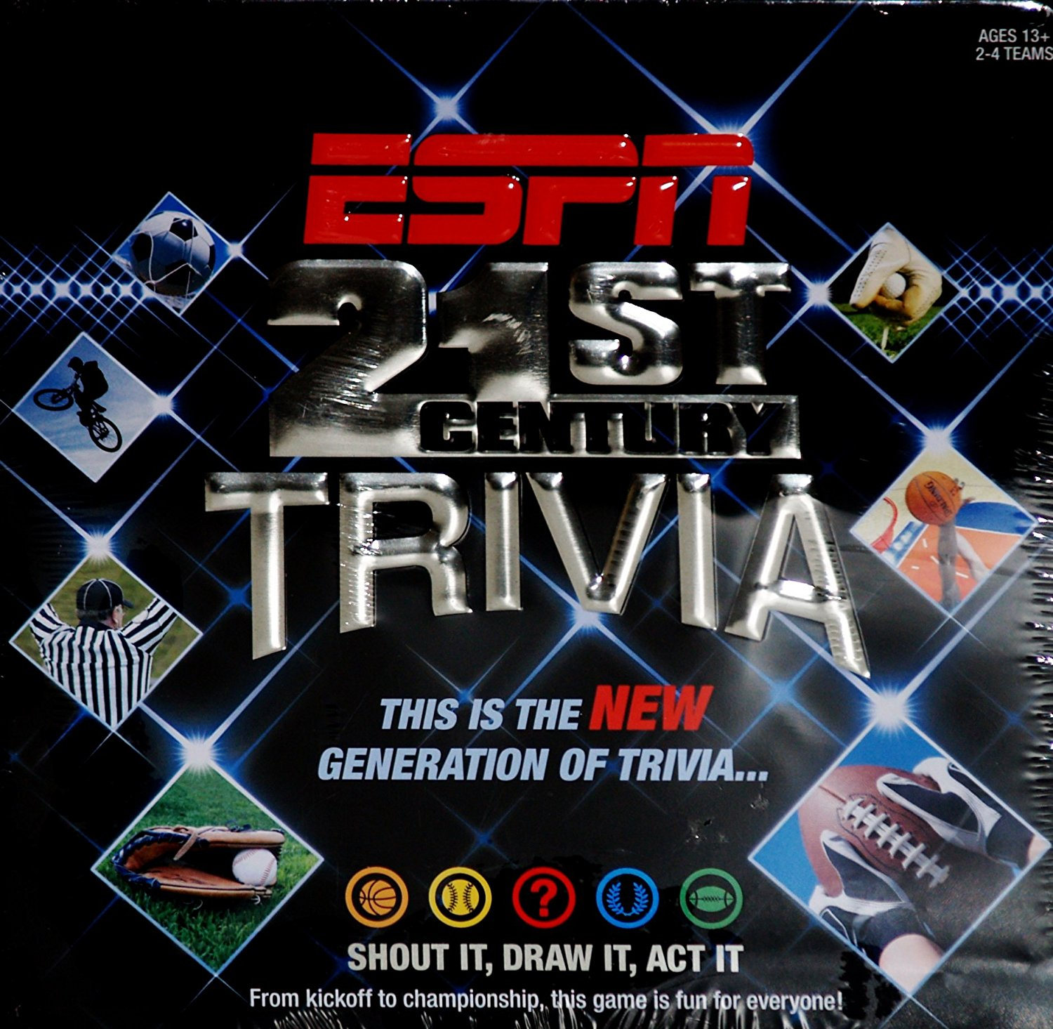 Trivia Board Game in Collector's Tin, A collector tin The perfect gift By ESPN by