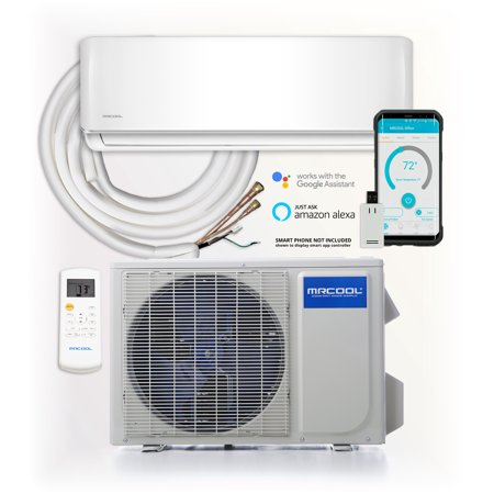 MRCOOL DIY 12,000 BTU Ductless Mini Split AC and Heat Pump with Wireless-Enabled Smart