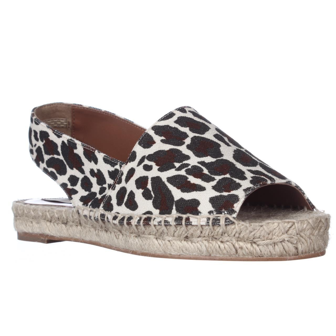 Womens Stella McCartney Chelsea Espadrille Flat Slingback Sandals - Rope Black Brown