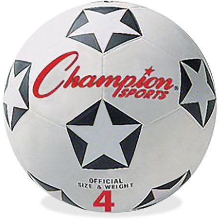 Adidas Champions League Ball - Champion Sport, CSISRB4, s Size 4 Soccer Ball, 1 Each, White,Black,Red