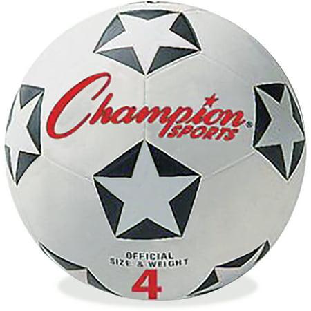 Champion Sports, CSISRB4, Size 4 Soccer Ball, 1 Each, White,Black,Red Black Professional Soccer Ball