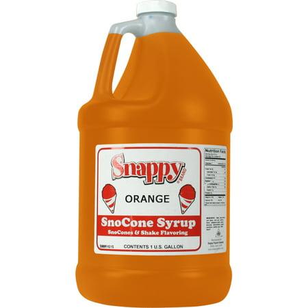 Orange Snappy Snow Cone Syrup (1 Gallon)