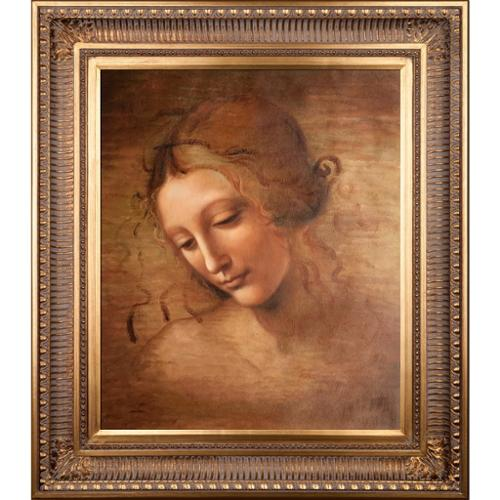 La Pastiche Da Vinci 'Female Head (La Scapigliata)' Hand Painted Oil Reproduction