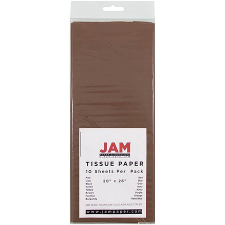 JAM Paper Tissue Paper, Brown, 10-Pack