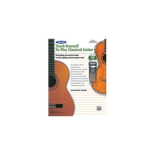 Alfred Alfred's Teach Yourself to Play Classical Guitar -Book, CD & DVD by Alfred