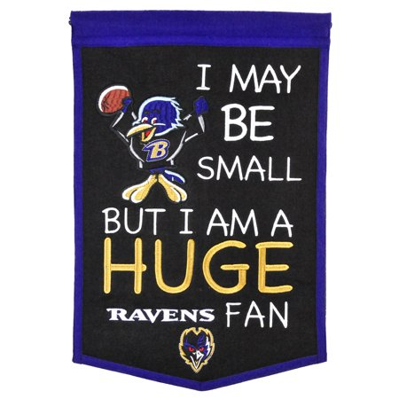 """Baltimore Ravens 12"""" x 18"""" Lil Fan Traditions Banner - No Size"""