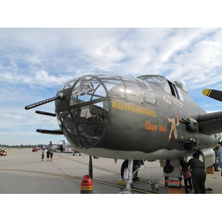 Canvas Print Air B-25 Plane Airplane Bomber Mitchell Vintage Stretched Canvas 10 x 14