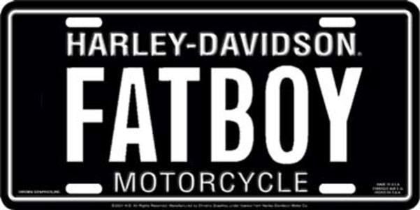 Harley Davidson Logo Silver Laser License Plate made in usa