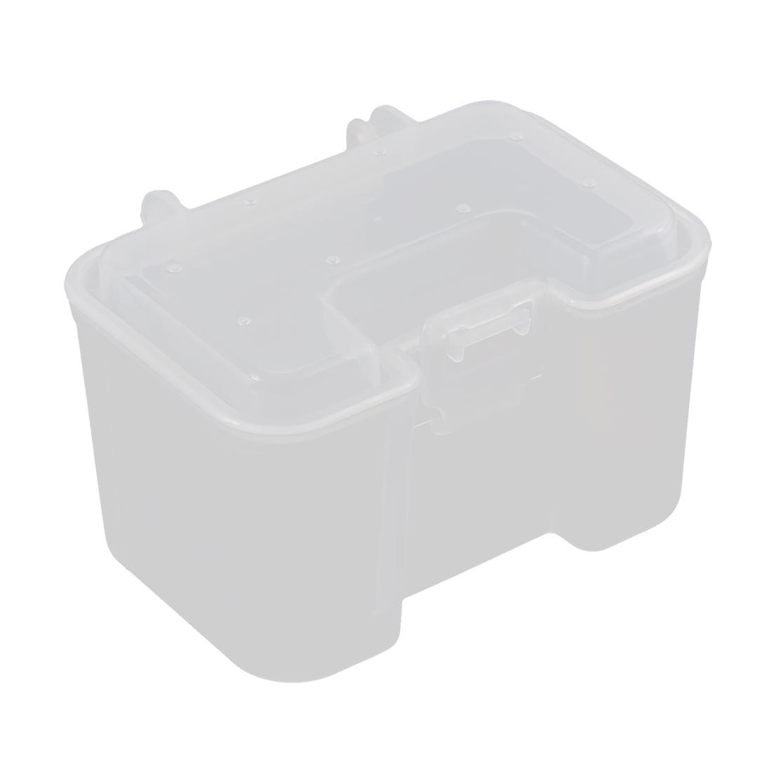 Unique Bargains Clear Plastic Fishing Lure Bait Hooks Tackle Storage Box Case Container by Unique-Bargains