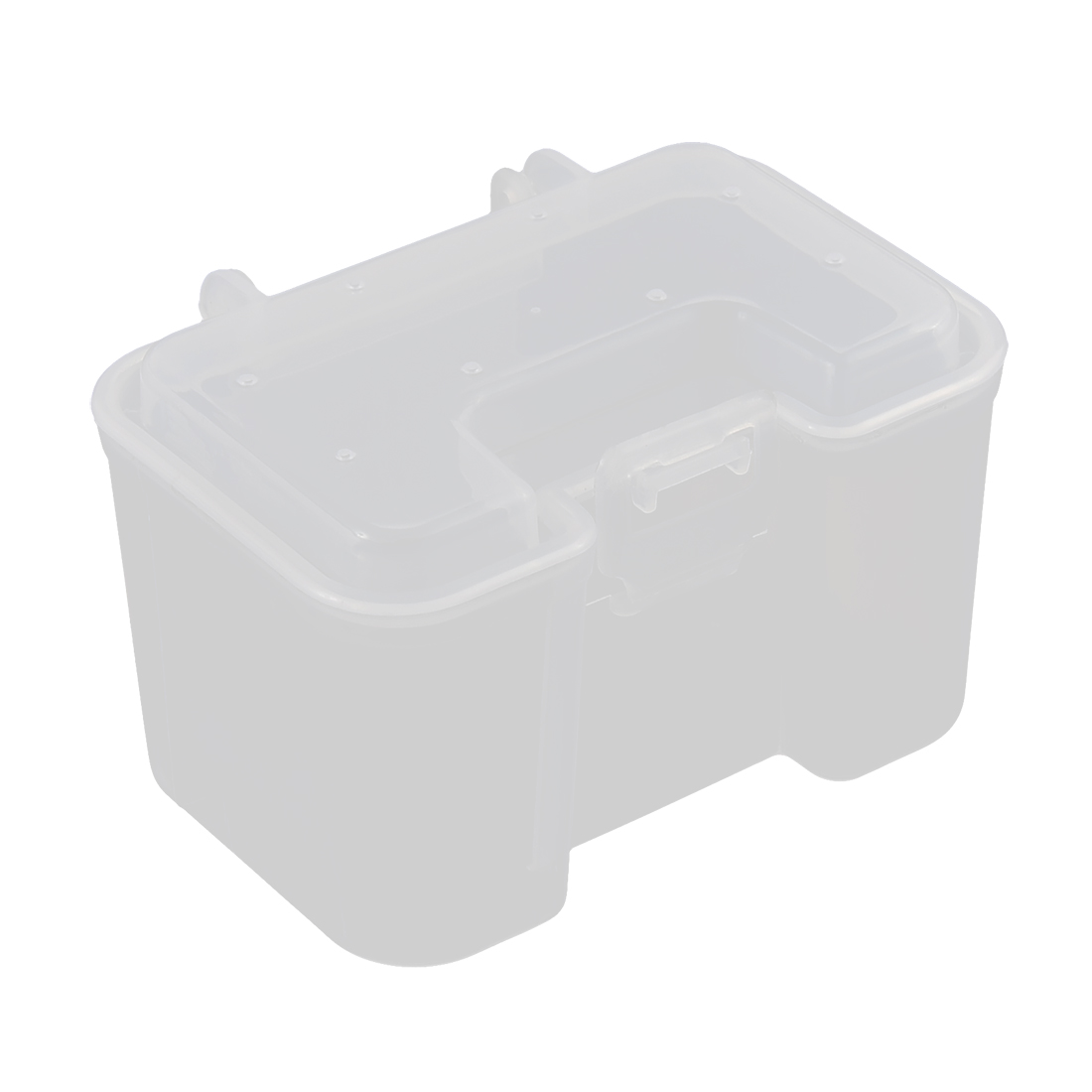 Unique Bargains Visible Plastic Clear Fishing Lure Bait Hooks Tackle Storage Box Case Container by