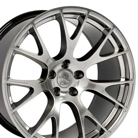 Hyper Black Rims (20x9 Wheel Fits Dodge, Chrysler - Challenger, Charger Hellcat Style Hyper Black Rim, Hollander)