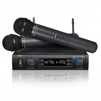 Technical Pro Professional UHF Dual Wireless Microphone System with Carrying Case by Supplier Generic