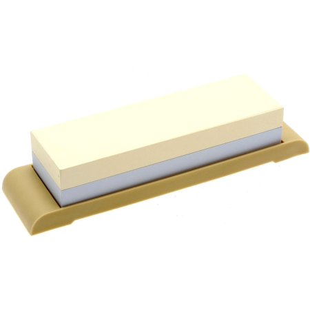 Suehiro Japanese Sharpening Stone, Dual-sided #1000 and #3000 Grit with Rubber Base,