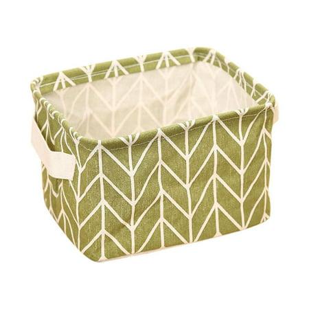 Akrobin Yellow Case - Geometry Pattern Desk Storage Box Cotton Linen Organizer Basket Foldable Cosmetic Case New