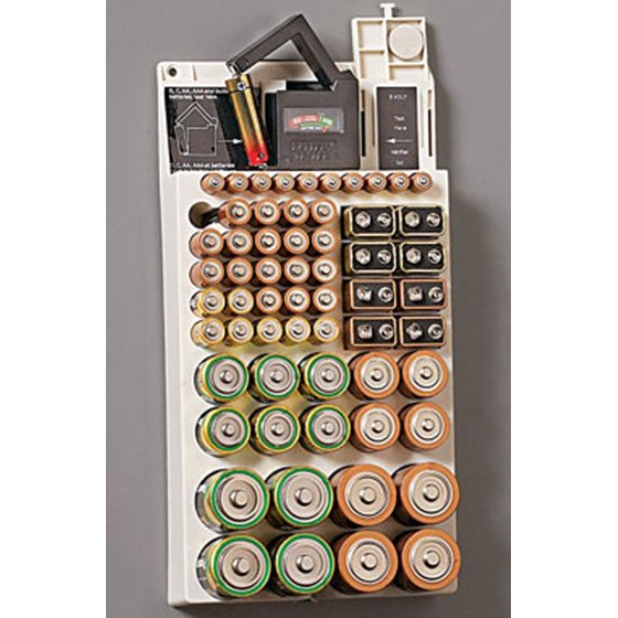 Battery Testers Walmart : Battery storage plastic holder rack organizer removable