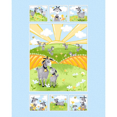 Quilt Fabric Panel - Susybee~Hildy the Goat Quilt Panel 35