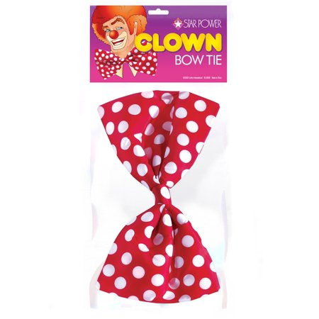 Dozen Oversized Clown Polka Dot 12pc Bow Ties, Assorted, One-Size (12in)