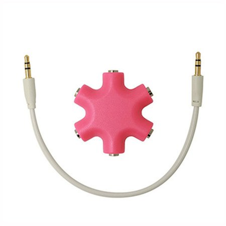 One Minute Two Electronic Couple Adapter Headphone Splitter Snowflake Fashion - image 1 of 8