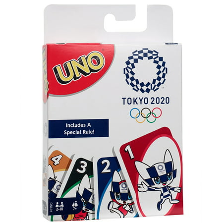Uno Olympic Games tokyo 2020 Card Game with 112 Cards for 7 Years Old and up
