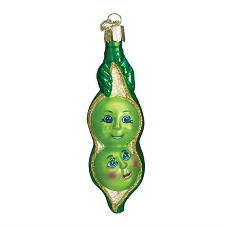 Old World Christmas Ornaments: Two Peas In A Pod Glass Blown Ornaments for Christmas