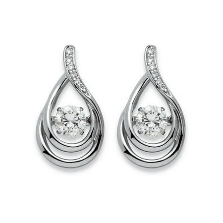 Double Teardrop Earrings - .77 TCW