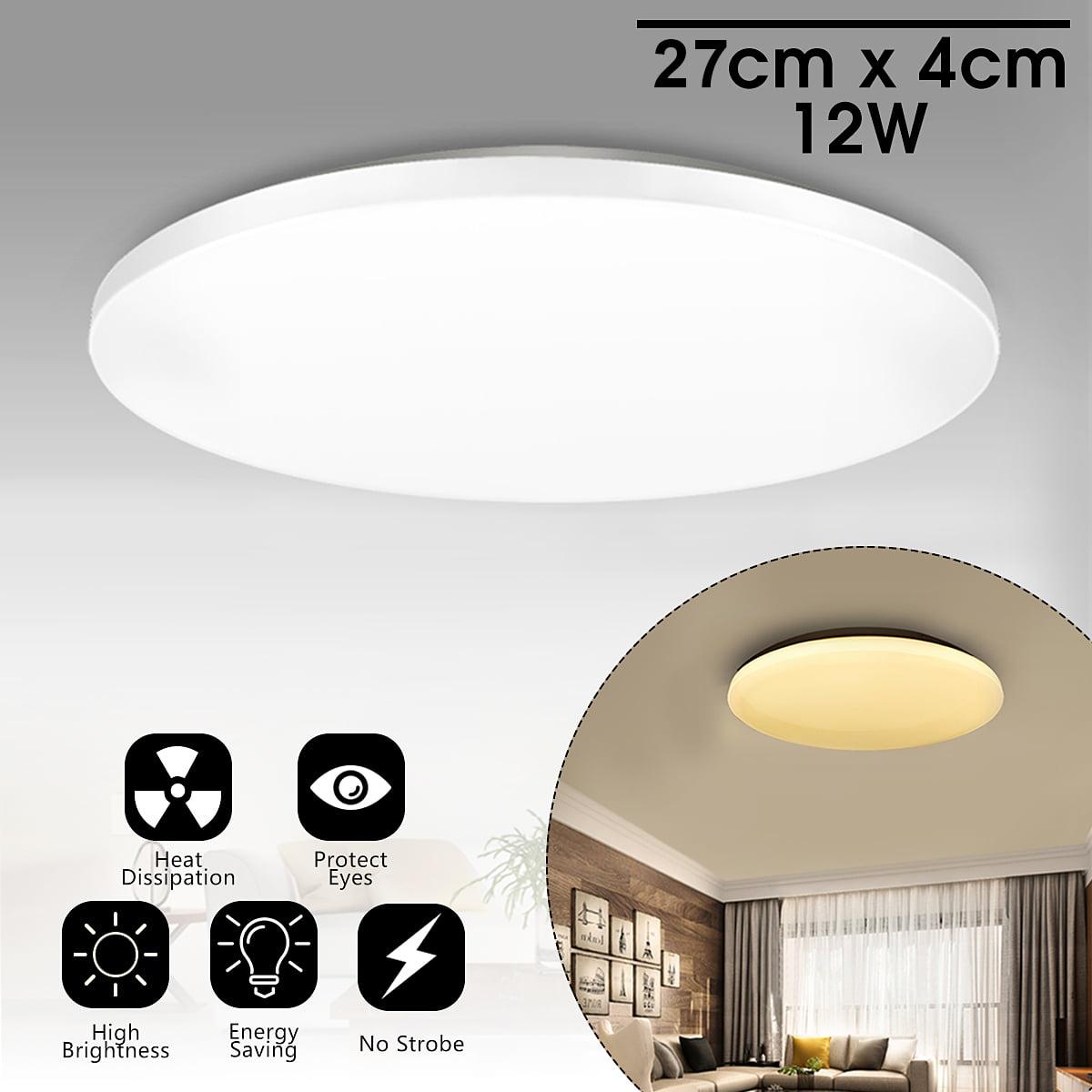 Led Ceiling Light Flush Mount Light Fixture 12w 1000 Lumens Round Modern Lamp For Home Bedroom
