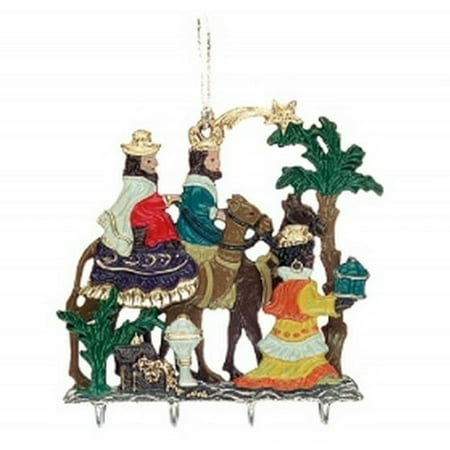 Three Kings Three Wisemen - Pinnacle Peak Trading Co The Three Kings with Presents Christmas Double Sided German 3D Pewter Ornament