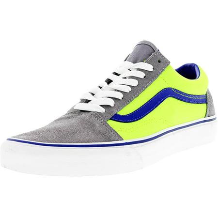 70e25fa1e0310f Vans - Vans Old Skool Brite Frost Grey   Neon Green Ankle-High Canvas  Skateboarding Shoe - 11M 9.5M - Walmart.com