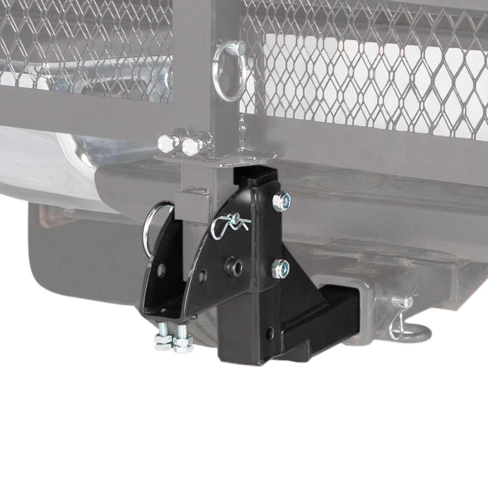 "2"" Class III or IV Hitch-Mounted Mobility Carrier Multiple Level Height Adapter"