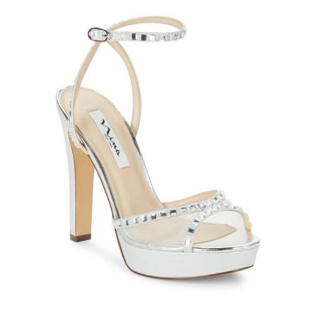 dd4410198694 Nina - Nina Womens Myrna Open Toe Formal Ankle Strap Sandals - Walmart.com