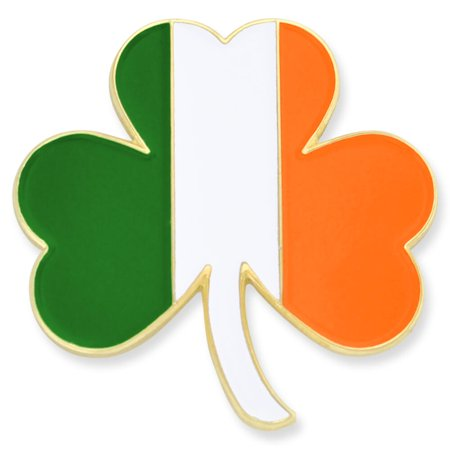 PinMart's Irish Flag Shamrock St. Patricks Day Enamel Lapel Pin - Shamrock Pin