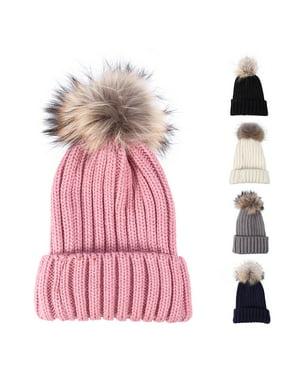 8510d395318 Product Image Woolen Hats for Women Winter Knitted Fur Hat Skullies Muts  Wollen Beanies Ladies