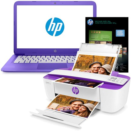 Hp Stream 14In Notebook With 32Gb  4Gb Ram  1 6Ghz  And Deskjet 3755 Photo Printer Bundle  Certified Refurbished