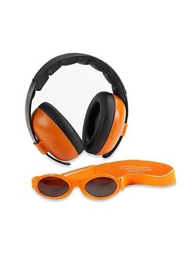 Infant Earmuffs & Sunglasses Combo Set Squiggle