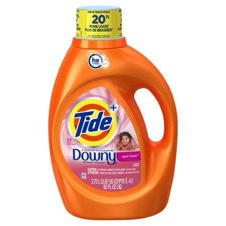 Tide Plus Downy April Fresh Scent He Turbo Clean Liquid Laundry Detergent  92 Oz  59 Loads