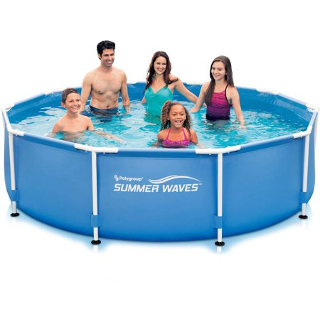 Summer waves 10 39 x 30 round metal frame above ground - Swimming pools for sale at walmart ...