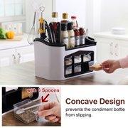White Kitchen Tableware Storage Box Cutlery Condiment Drainage Organizer Knives Holder Large Capacity