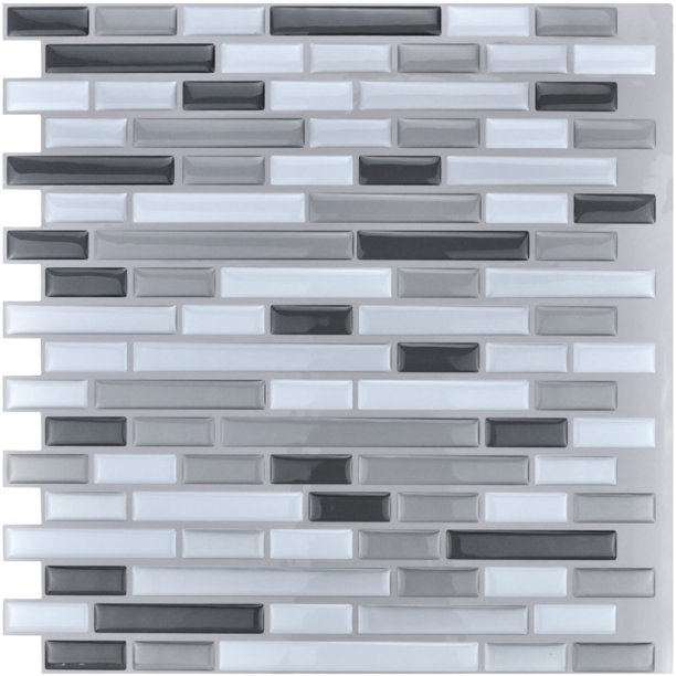 Art3d Peel and Stick Vinyl Sticker Kitchen Backsplash Tiles, 12