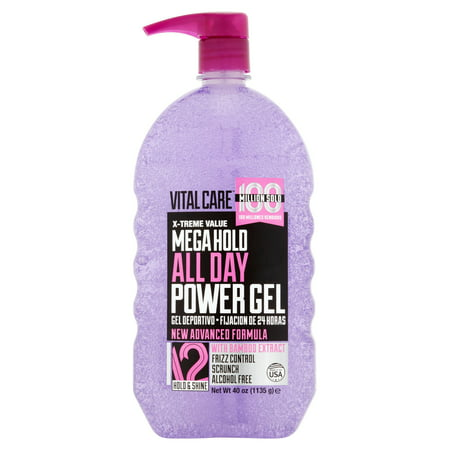 Vitalcare Mega Hold All Day Power Gel, 40 oz