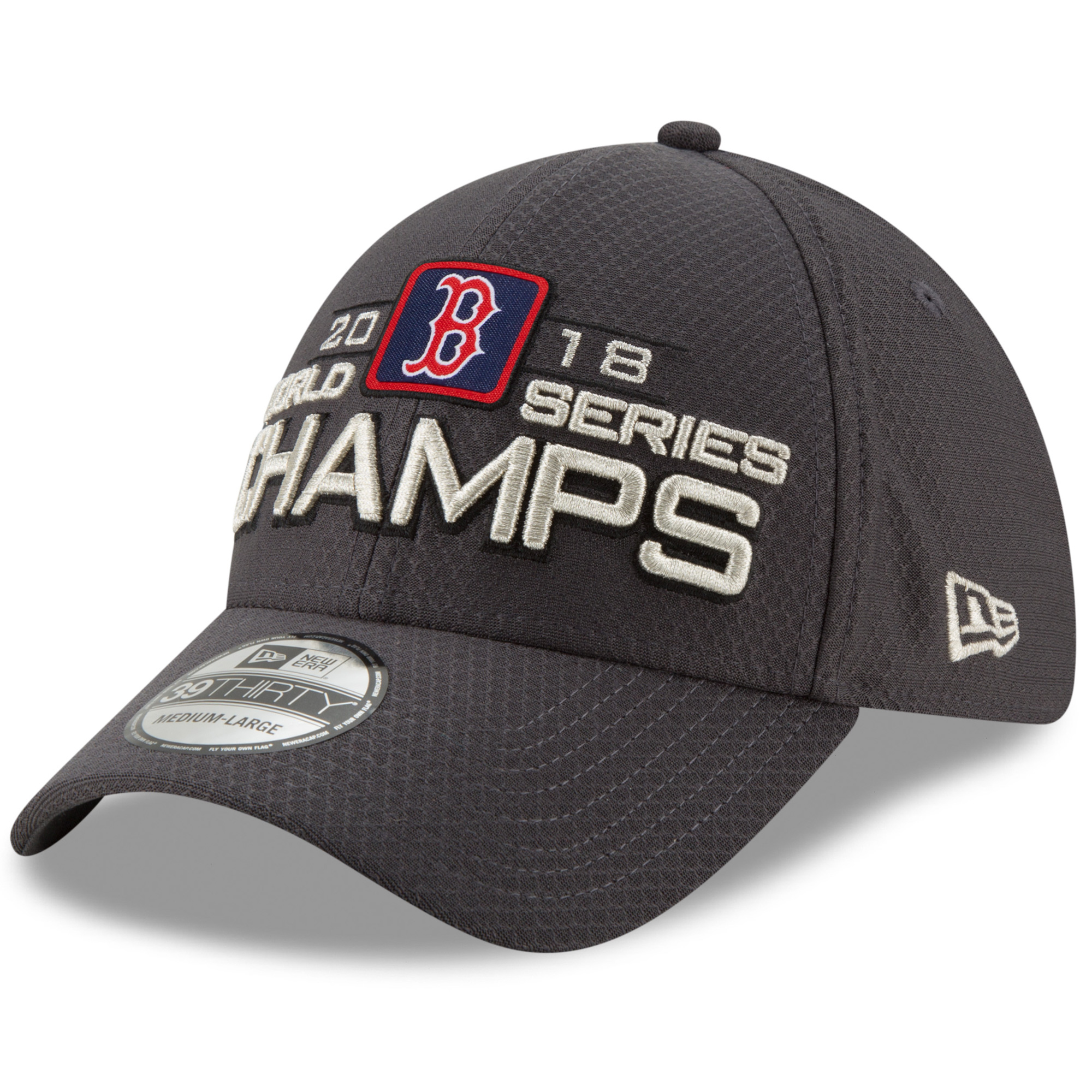 info for bb595 9b0df Boston Red Sox New Era 2018 World Series Champions Locker Room 39THIRTY  Flex Hat - Charcoal - OSFM - Walmart.com