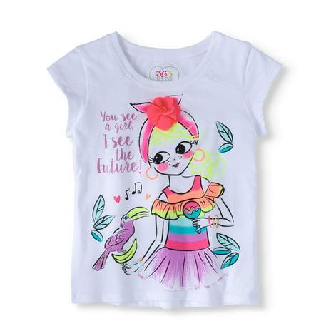 bdefefe9c 365 Kids From Garanimals - Little Girls' 4-8 Graphic T-Shirt - Walmart.com