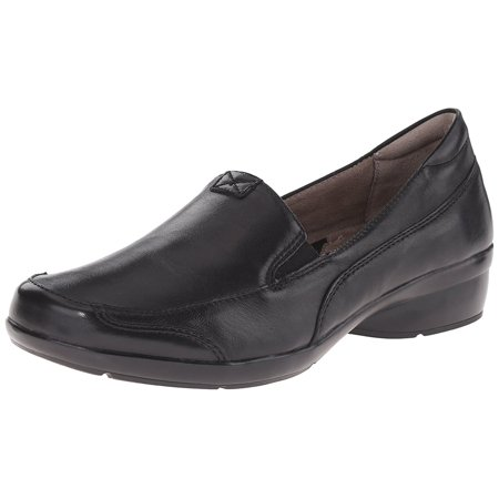 naturalizer women's channing slip-on loafer, black, 9 m us (Naturalizer Loafers Heels)